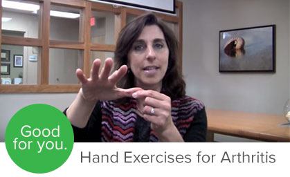 Yoga and Pilates teacher Lisa Long teaches exercises for arthritis specifically for pain and discomfort in the hands.